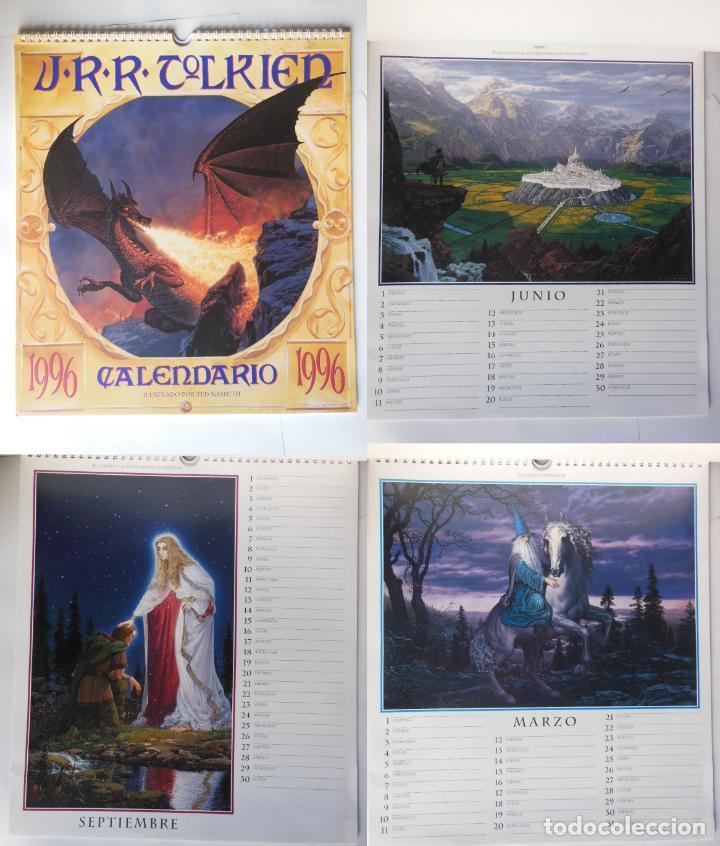 CALENCARIO J.R.R. TOLKIEN 1996. NASMITH TED (ILUSTRADOR) (Coleccionismo - Calendarios)