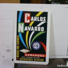 Coleccionismo Calendarios: CALENDARIO FOURNIER AÑO 1967 CARLOS NAVARRO ZARAGOZA. Lote 213764056