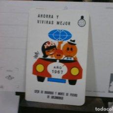 Coleccionismo Calendarios: CALENDARIO FOURNIER AÑO 1967 CAJA DE AHORROS SALAMANCA. Lote 213764188