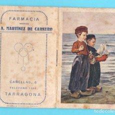 Coleccionismo Calendarios: CALENDARIO ALMANAQUE PARA 1945. FARMACÍA P. A. MARTÍNEZ DE CARNERO. CAÑELLAS, 6, TARRAGONA.. Lote 213907251