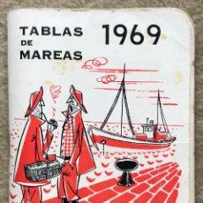 Coleccionismo Calendarios: LIBRITO TABLA DE MAREAS - AÑO 1969 - CAJA DE AHORROS DE SANTANDER. Lote 214296536