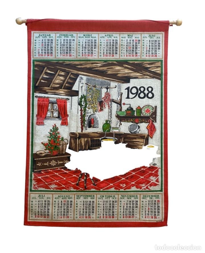 21 CALENDARIOS ALEMANES EN LINO Y ALGODÓN DESDE 1988 , PRECIOSOS.MUY BIEN CONSERVADOS. (Coleccionismo - Calendarios)