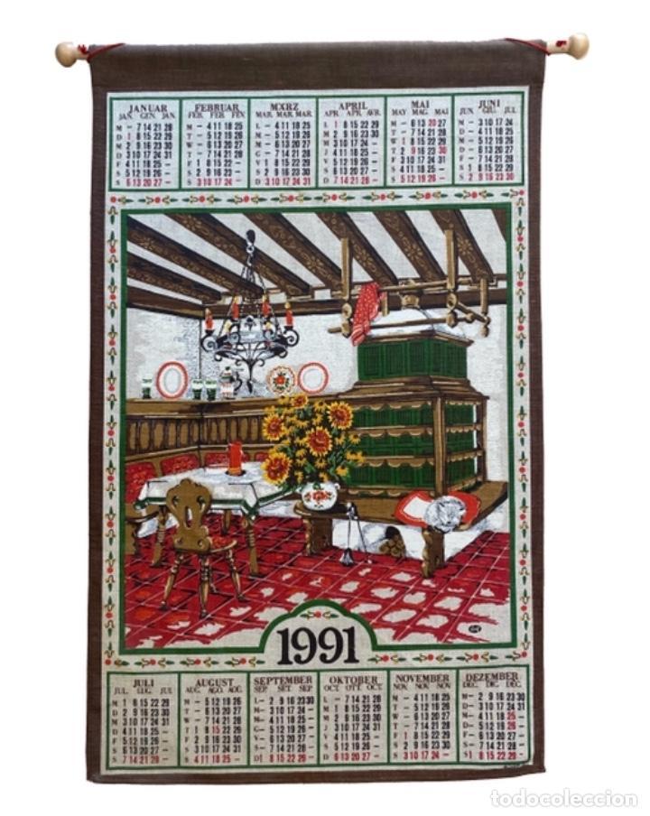 Coleccionismo Calendarios: 21 calendarios alemanes en lino y algodón desde 1988 , preciosos.Muy bien conservados. - Foto 4 - 214754382