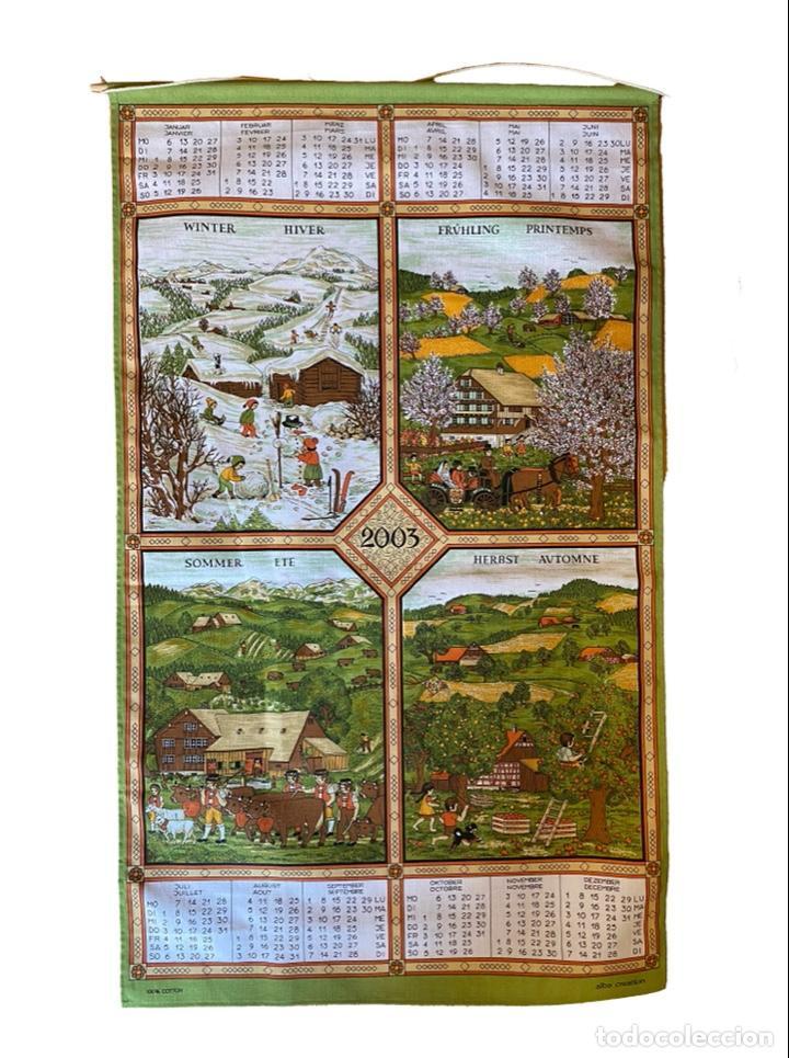 Coleccionismo Calendarios: 21 calendarios alemanes en lino y algodón desde 1988 , preciosos.Muy bien conservados. - Foto 12 - 214754382