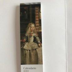 Coleccionismo Calendarios: 12 MARCADORES CALENDARIO 2010 OBRAS MAESTRAS DEL MUSEO DEL PRADO. Lote 215717273