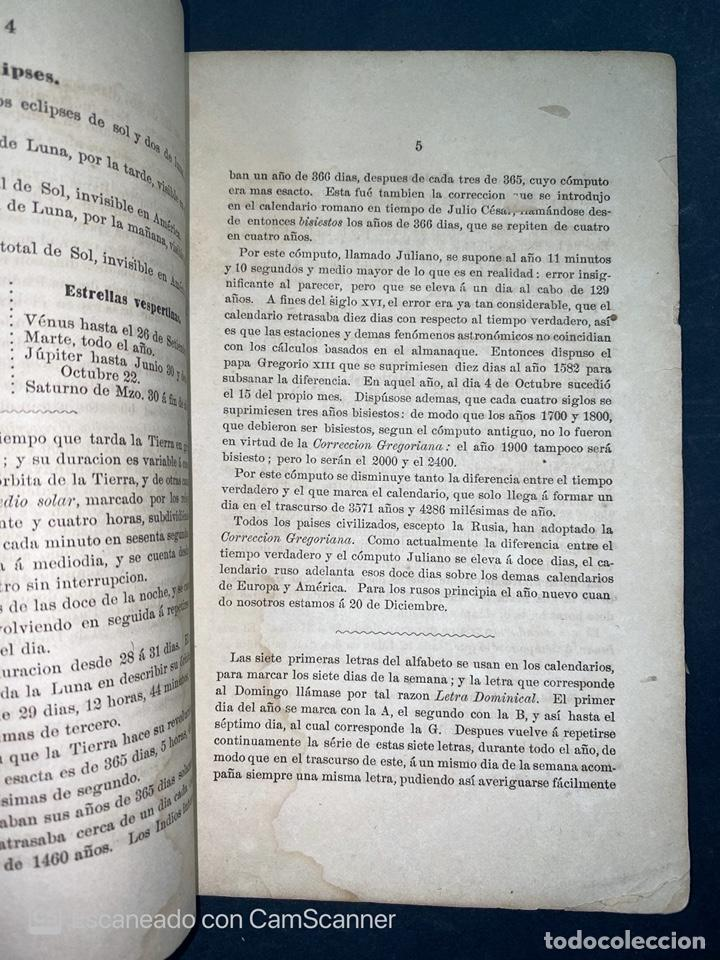 Coleccionismo Calendarios: ALMANAQUE CUBANO. 1871. NUEVA YORK. IMPRENTA HALLET Y BREEN. VER TODAS LAS FOTOS. - Foto 3 - 215989261