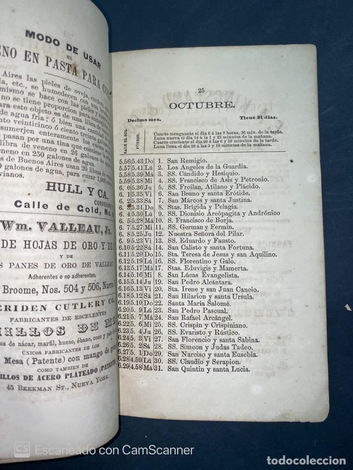 Coleccionismo Calendarios: ALMANAQUE CUBANO. 1871. NUEVA YORK. IMPRENTA HALLET Y BREEN. VER TODAS LAS FOTOS. - Foto 6 - 215989261