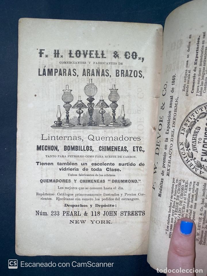 Coleccionismo Calendarios: ALMANAQUE CUBANO. 1871. NUEVA YORK. IMPRENTA HALLET Y BREEN. VER TODAS LAS FOTOS. - Foto 11 - 215989261