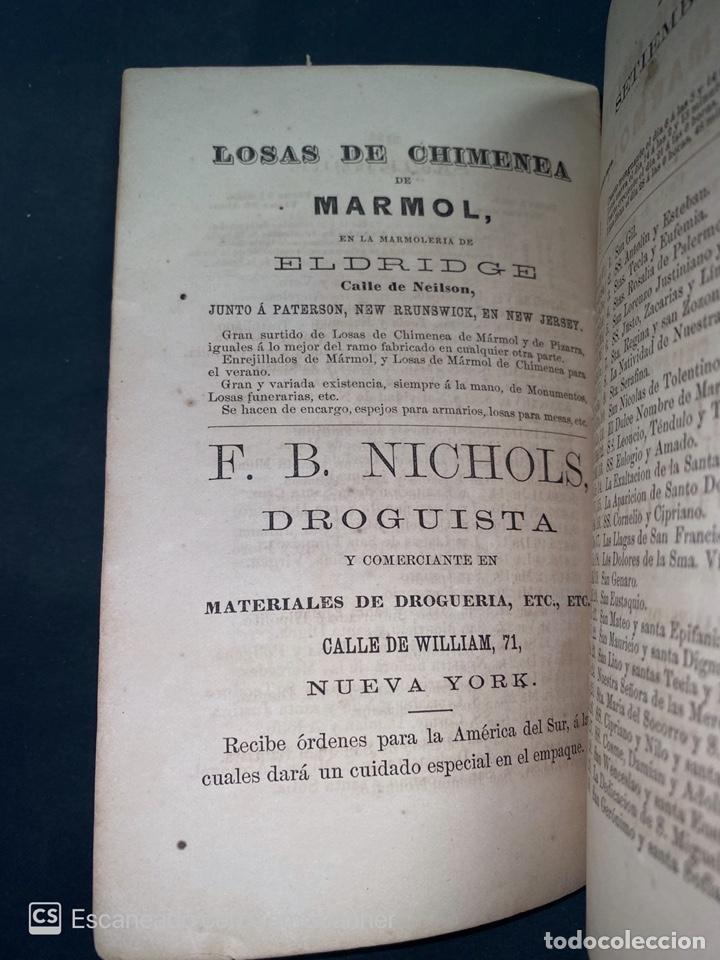 Coleccionismo Calendarios: ALMANAQUE CUBANO. 1871. NUEVA YORK. IMPRENTA HALLET Y BREEN. VER TODAS LAS FOTOS. - Foto 14 - 215989261
