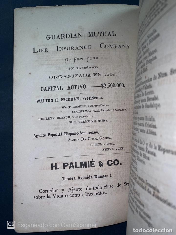 Coleccionismo Calendarios: ALMANAQUE CUBANO. 1871. NUEVA YORK. IMPRENTA HALLET Y BREEN. VER TODAS LAS FOTOS. - Foto 15 - 215989261
