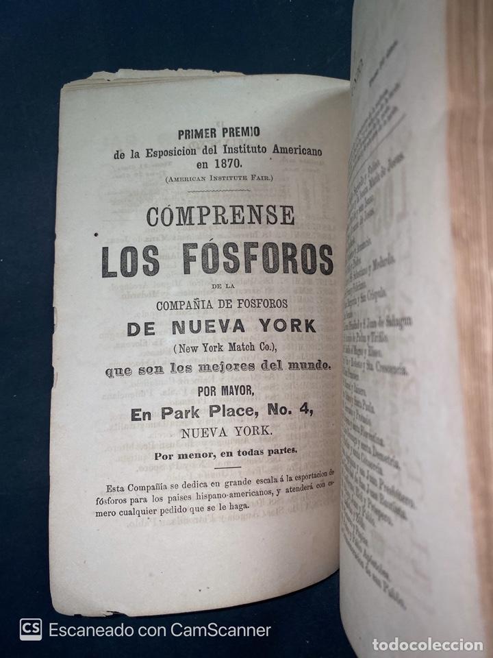 Coleccionismo Calendarios: ALMANAQUE CUBANO. 1871. NUEVA YORK. IMPRENTA HALLET Y BREEN. VER TODAS LAS FOTOS. - Foto 20 - 215989261
