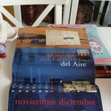 Coleccionismo Calendarios: G-34 CALENDARIO ARCHIVO HISTORICO DEL EJERCITO DEL AIRE. Lote 216603633