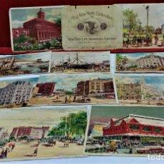 Coleccionismo Calendarios: CALENDARIO THE NEW YORK CALENDAR FOR 1888-1889.12 CARTULINAS,11 MESES.AÑO 1887. Lote 217186117