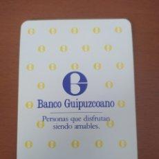 Coleccionismo Calendarios: CALENDARIO FOURNIER BANCO GUIPUZCOANO AÑO 1986. Lote 217688515