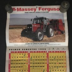 Coleccionismo Calendarios: CALENDARIO/ALMANQUE 1992 CITASA MASSEY FERGUSON. Lote 217942400