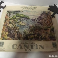Coleccionismo Calendarios: (M) ANTIGUO CARTEL DE CALENDARIO INDUSTRIAS GRÁFICAS CANTIN S.A. 1954 45,5X40CM.. Lote 218022073