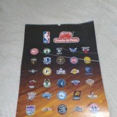 Coleccionismo Calendarios: CALENDARIO 2019 CON LOS LOGOTIPOS DE LA NBA DE FRESON DE PALOS. Lote 218242075