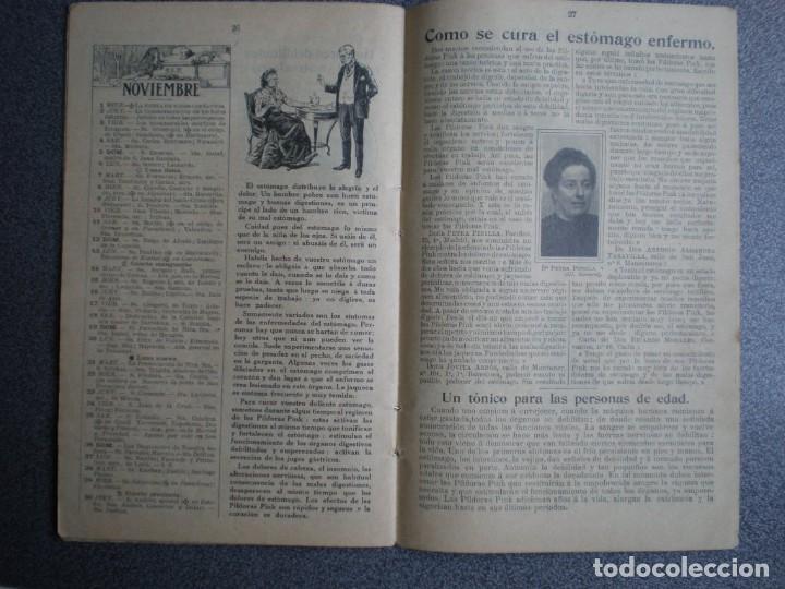 Coleccionismo Calendarios: ALMANAQUE PARA 1911 PÍLDORAS PINK - 32 PÁGINAS MÁS TAPAS. - Foto 3 - 218991472