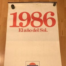 Coleccionismo Calendarios: GRAN CALENDARIO NISSAN MOTOR IBERICA LOS JAPONES- EL AÑO DEL SOL 1986. Lote 219343601
