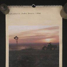 Coleccionismo Calendarios: GRAN CALENDARIO AGRO ZARAGOZA JOHN DEERE 1996. Lote 219343728