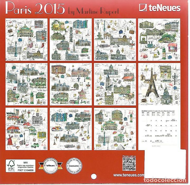 Coleccionismo Calendarios: calendario de 2015 con todos los monumentos de paris perfecto estado - Foto 2 - 219499355