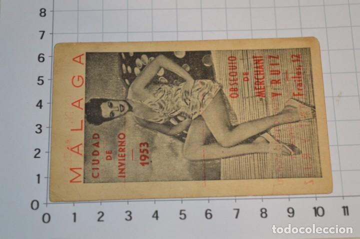 Coleccionismo Calendarios: MÁLAGA 1953 / Antiguo CALENDARIO LABORAL de Fiestas 1953 ¡Muy difícil, mira fotos/detalles! - Foto 3 - 220426168