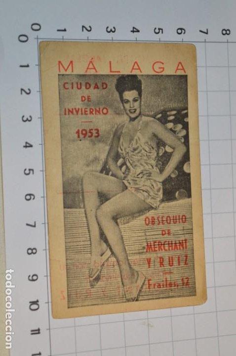 MÁLAGA 1953 / ANTIGUO CALENDARIO LABORAL DE FIESTAS 1953 ¡MUY DIFÍCIL, MIRA FOTOS/DETALLES! (Coleccionismo - Calendarios)