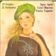 Coleccionismo Calendarios: CALENDARIO DE SERIE HOROSCOPOS - 1988 - BO 5.221 - ESCORPIÓN. Lote 221622130