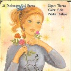 Coleccionismo Calendarios: CALENDARIO DE SERIE HOROSCOPOS - 1988 - BO 5.223 - CAPRICORNIO. Lote 221622283