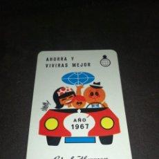 Coleccionismo Calendarios: CALENDARIO H. FOURNIER 1967 CAJA DE AHORROS Y MONTE DE PIEDAD MADRID.. Lote 221626695