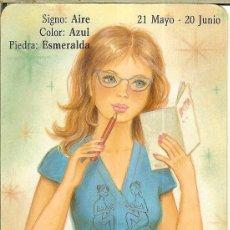 Coleccionismo Calendarios: CALENDARIO DE SERIE HOROSCOPOS - 1988 - BO 5.216 - GÉMINIS. Lote 221707258