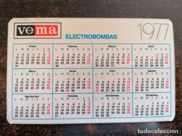 Coleccionismo Calendarios: CALENDARIO NO FOURNIER - ELECTROBOMBAS VEMA. AÑO 1977. - Foto 2 - 221710876