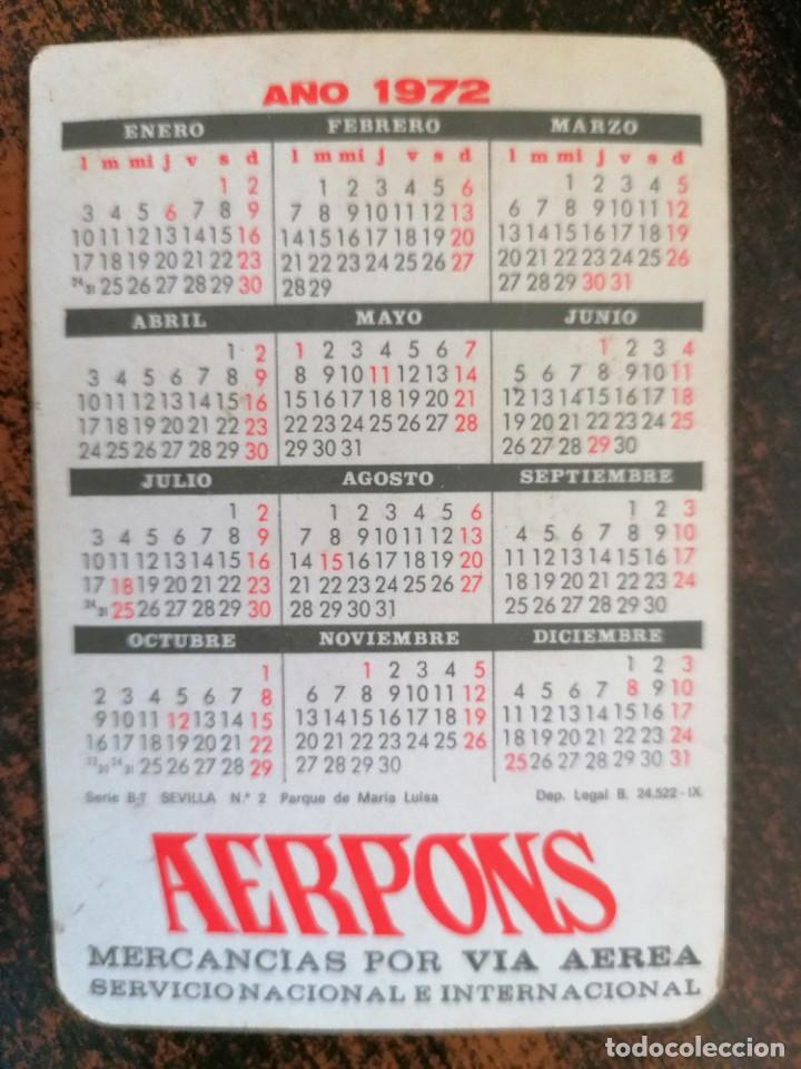 Coleccionismo Calendarios: CALENDARIO NO FOURNIER - AERPONS. AÑO 1972. - Foto 2 - 221712213