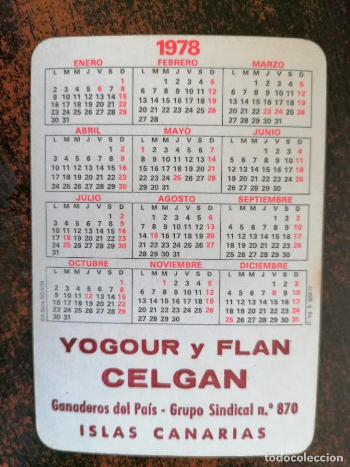 Coleccionismo Calendarios: CALENDARIO NO FOURNIER - YOGOUR Y FLAN CELGAN. AÑO 1978. - Foto 2 - 221712298