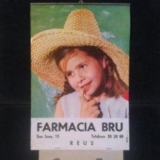 Coleccionismo Calendarios: CALENDARIO 1966 CON PUBLICIDAD DE LA FARMACIA BRU DE REUS COMPLETO. Lote 221885848