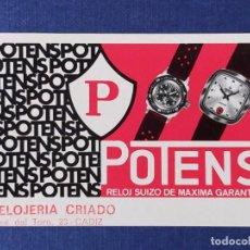 Collectionnisme Calendriers: CALENDARIO DE BOLSILLO FOURNIER AÑO 1971 - RELOJ POTENS, RELOJERIA CRIADO (CÁDIZ). Lote 221934518