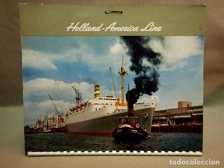 Coleccionismo Calendarios: CALENDARIO DE PARED, 1957, HOLLAND - AMERICA LINE, MEDIDAS: 30 X 25 CM - Foto 2 - 222018663
