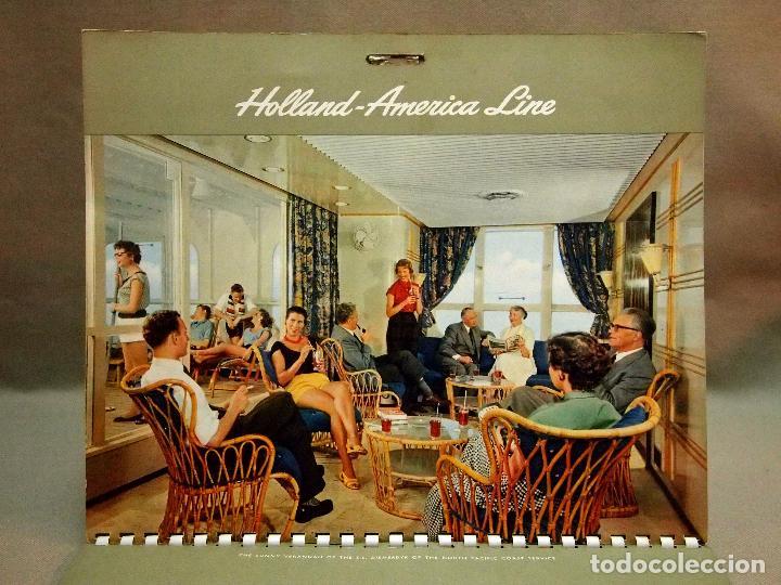 Coleccionismo Calendarios: CALENDARIO DE PARED, 1957, HOLLAND - AMERICA LINE, MEDIDAS: 30 X 25 CM - Foto 5 - 222018663