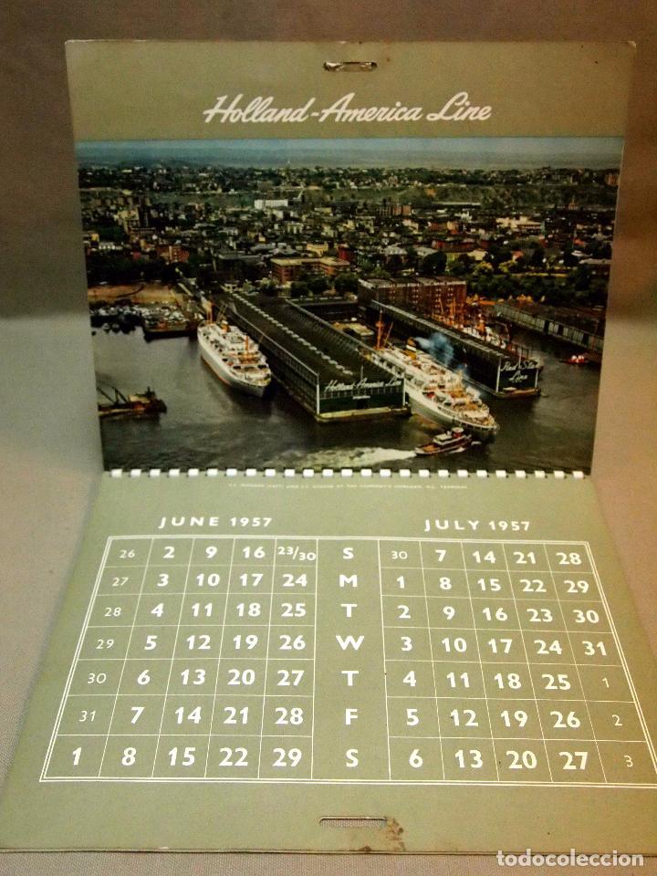 Coleccionismo Calendarios: CALENDARIO DE PARED, 1957, HOLLAND - AMERICA LINE, MEDIDAS: 30 X 25 CM - Foto 8 - 222018663