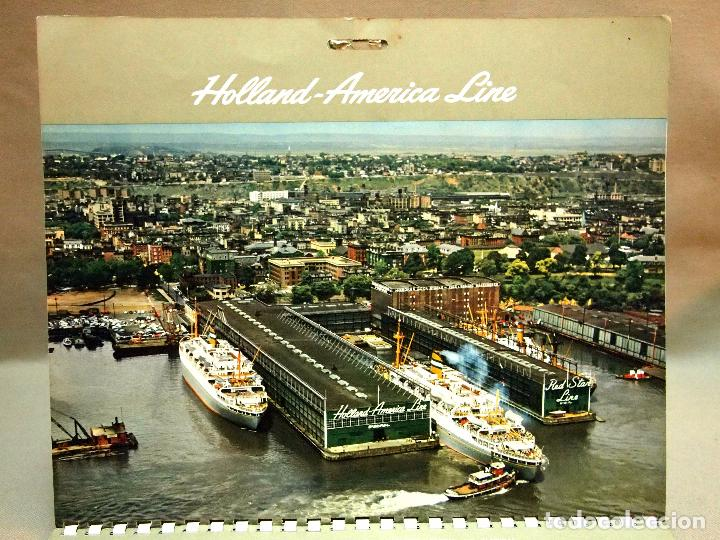 Coleccionismo Calendarios: CALENDARIO DE PARED, 1957, HOLLAND - AMERICA LINE, MEDIDAS: 30 X 25 CM - Foto 9 - 222018663