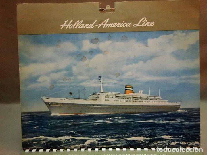 Coleccionismo Calendarios: CALENDARIO DE PARED, 1957, HOLLAND - AMERICA LINE, MEDIDAS: 30 X 25 CM - Foto 13 - 222018663