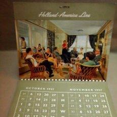 Coleccionismo Calendarios: CALENDARIO DE PARED, 1957, HOLLAND - AMERICA LINE, MEDIDAS: 30 X 25 CM. Lote 222018663