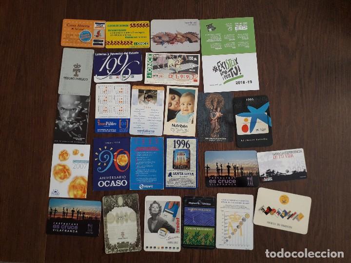 LOTE DE 25 CALENDARIOS DE PUBLICIDAD VARIADOS (Coleccionismo - Calendarios)