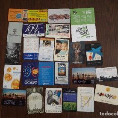 Coleccionismo Calendarios: LOTE DE 25 CALENDARIOS DE PUBLICIDAD VARIADOS. Lote 222068713