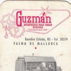 Coleccionismo Calendarios: 1 CALENDARIO BOLSILLO PUBLICIDAD GUZMAN MAQUINARIA. EIBAR. PALMA DE MALLORCA. Lote 222090130