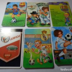 Coleccionismo Calendarios: MAGNIFICOS 60 CALENDARIOS ANTIGUOS DE FUTBOL. Lote 222100961