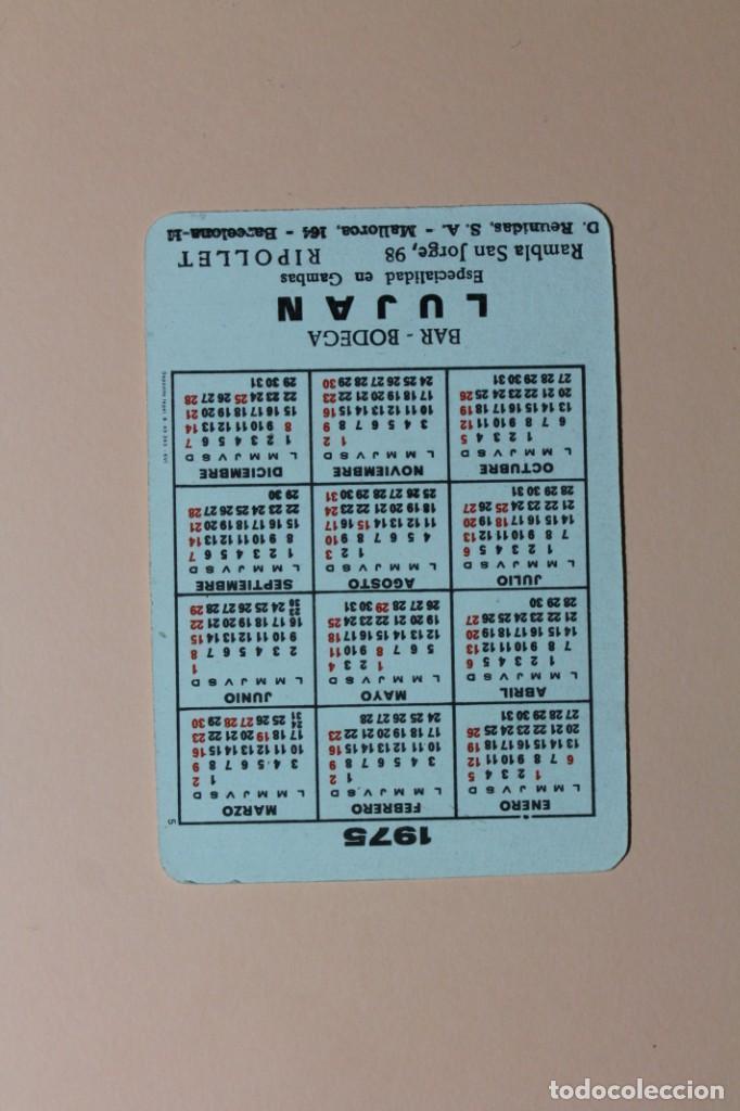 Coleccionismo Calendarios: CALENDARIO DE BOLSILLO DE CHICAS. AÑO 1975. NUMERO 5. BAR BODEGA LUJAN - RIPOLLET. - Foto 2 - 222111667