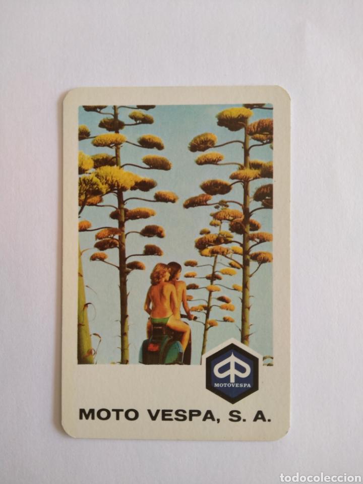CALENDARIO FOURNIER AÑO 1977 MOTO VESPA S.A (Coleccionismo - Calendarios)