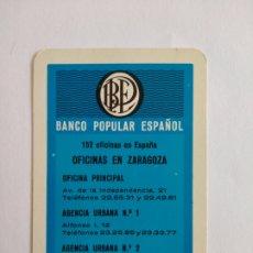 Coleccionismo Calendarios: CALENDARIO FOURNIER AÑO 1967 BANCO POPULAR ESPAÑOL. Lote 222123477