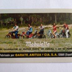 Coleccionismo Calendarios: CALENDARIO FOURNIER AÑO 1972 MOBYLETTE. Lote 222126853